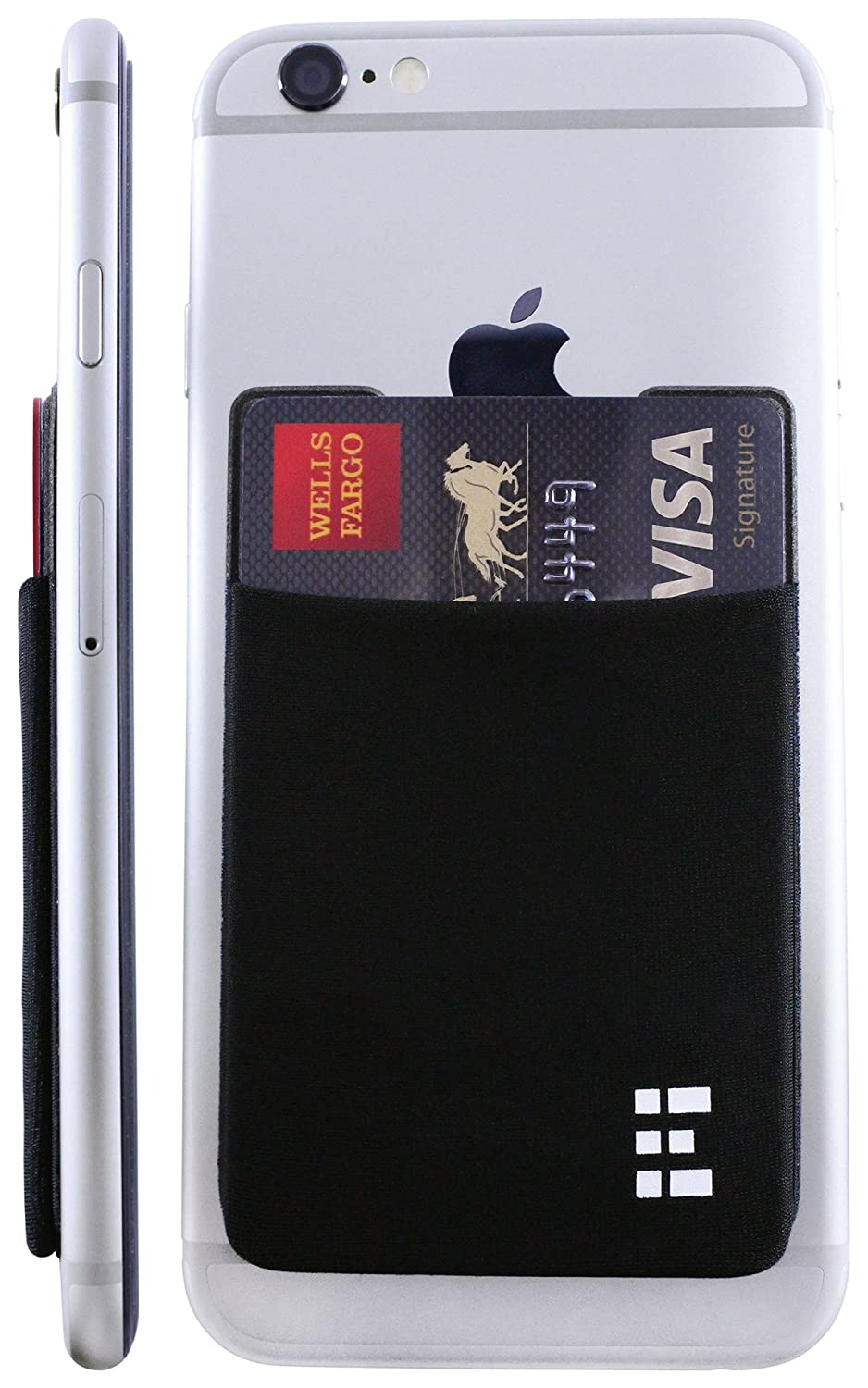 Cell Phone Card Holder >> Amazon Com Zero Grid Cell Phone Credit Card Holder Stick On Wallet