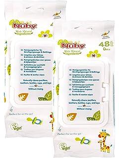 Nûby Toallitas para chupetes y mordedores -48 piezas: Amazon.es ...