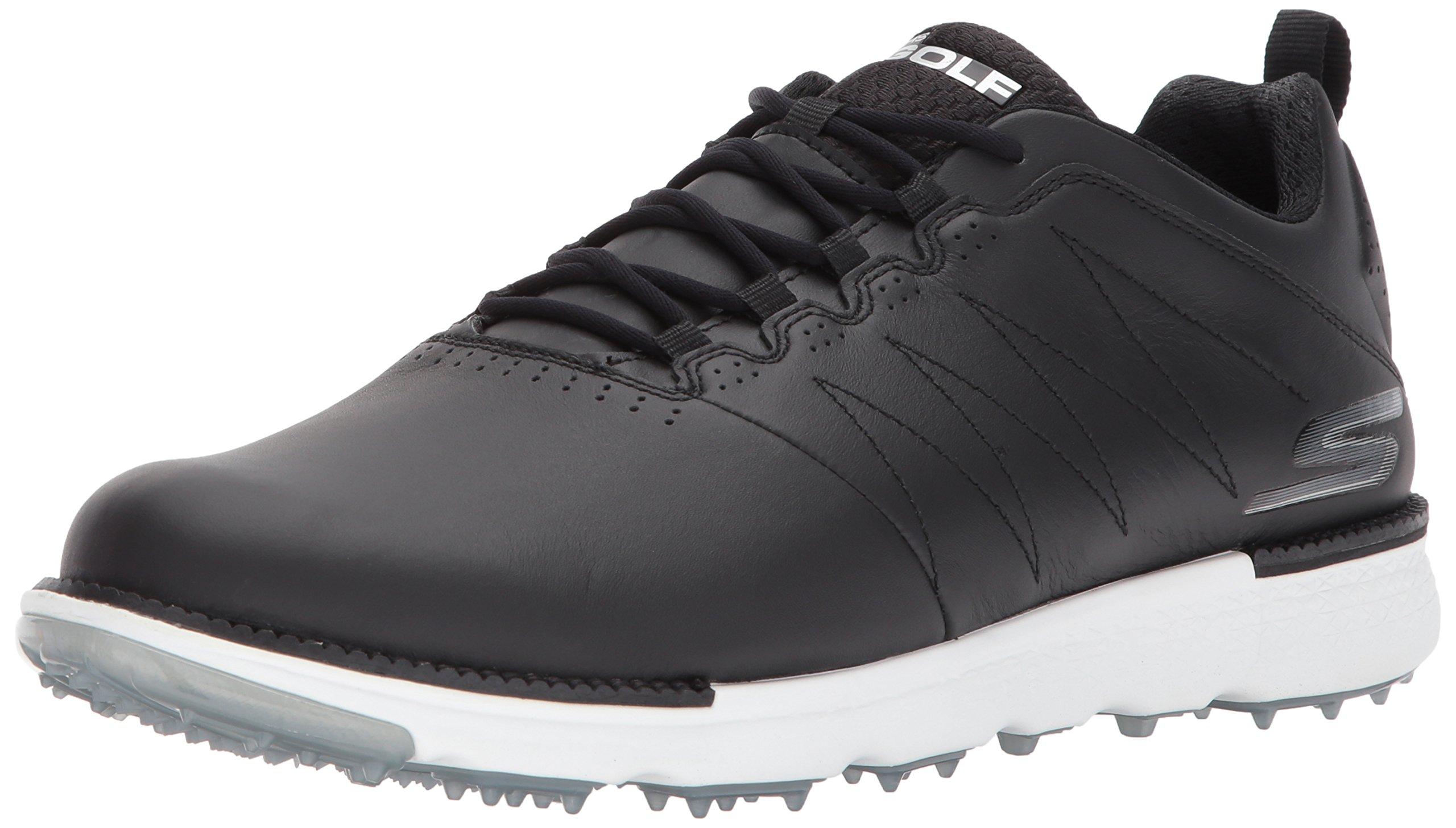 Skechers Men's Go Golf Elite 3 Golf Shoe,Black/White,7.5 M US