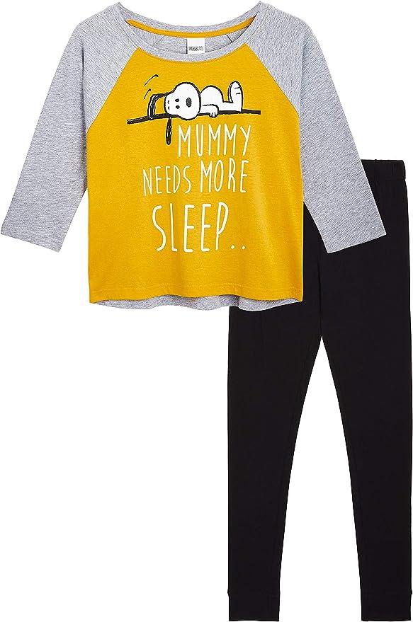 Peanuts Snoopy Pijamas Mujer, Conjunto Pijama Mujer de 2 ...