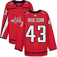 $349 » Tom Wilson Washington Capitals Autographed Red Adidas Authentic Jersey - Autographed NHL Jerseys