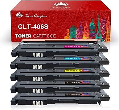 Toner Kingdom Toner For 1r Samsung Xpress Clt P406c Clt K406s Clt C406s Clt Y406s Clt M406s Clp 360 Clp 365 Clx 3300 Clt 406s Cltk406s Printer Multipack Black Cyan Yellow Magenta Bürobedarf Schreibwaren