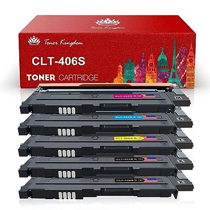 Toner Kingdom 5 Paquete Compatible Cartucho de tóner Para Samsung ...