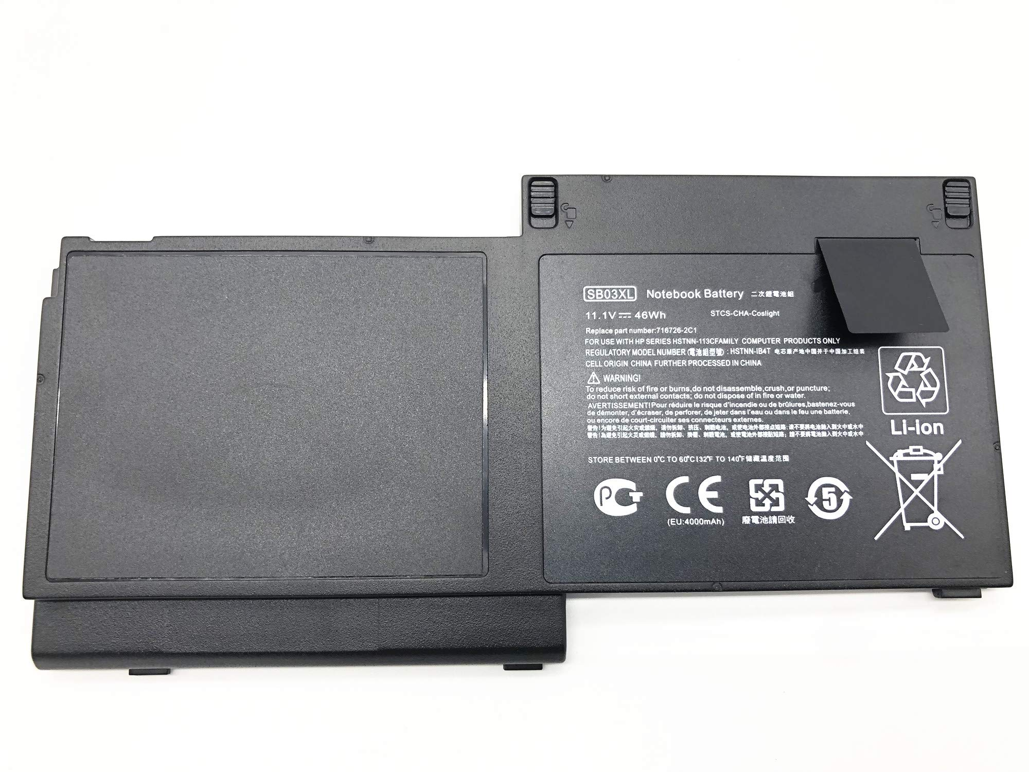 Bateria 11.1v 46wh Sb03xl Hp Elitebook 720 G1 725 G2 820 G1