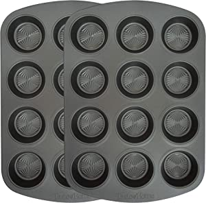 Range Kleen Taste of Home 12-Cup Non-Stick Metal Muffin Pan (Set of 2)