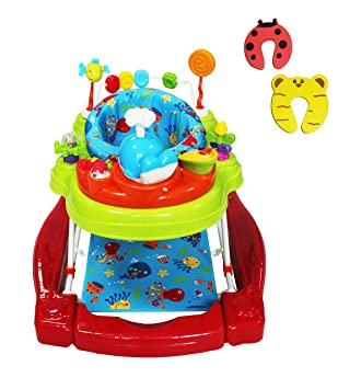 INCLUDES 2 DOOR STOPPERS Red Kite Baby Go Round Twist Babywalker/Rocker Baby Products Activity & Entertainment