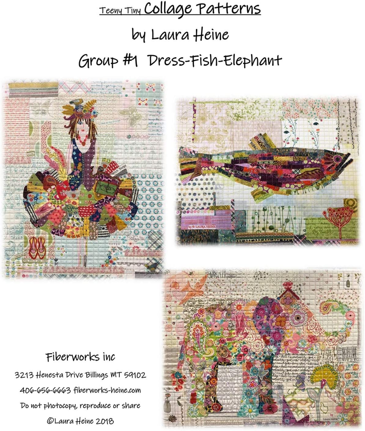 Cow Teeny Tiny Collage Quilt Pattern Group 2 Truck by Laura Heine Fox