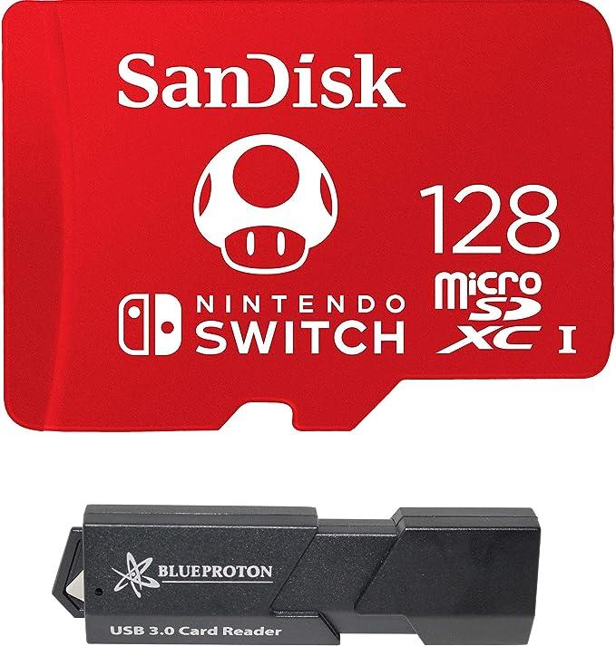 SanDisk MicroSDXC UHS-I Card for Nintendo Switch & BlueProton USB ...