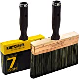 Deck Stain Brush by Kingorigin 7 Inch Block Brush, Paint Brush Heavy Duty Professional Stain Brush,Double Thick 1.2 inch…