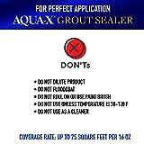 16 oz AQUA-X Grout Sealer, Clear Grout