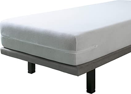 SAVEL - Funda de colchón elástica de Algodón | 90 x 190/200cm | Protector de colchón con Cremallera. Tejido de Rizo 100% Algodon Muy Absorbente y ...