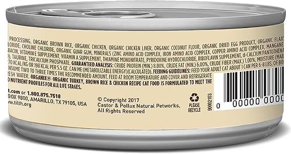 Castor & Pollux Organix orgánicos Comida para Gatos en Lata ...