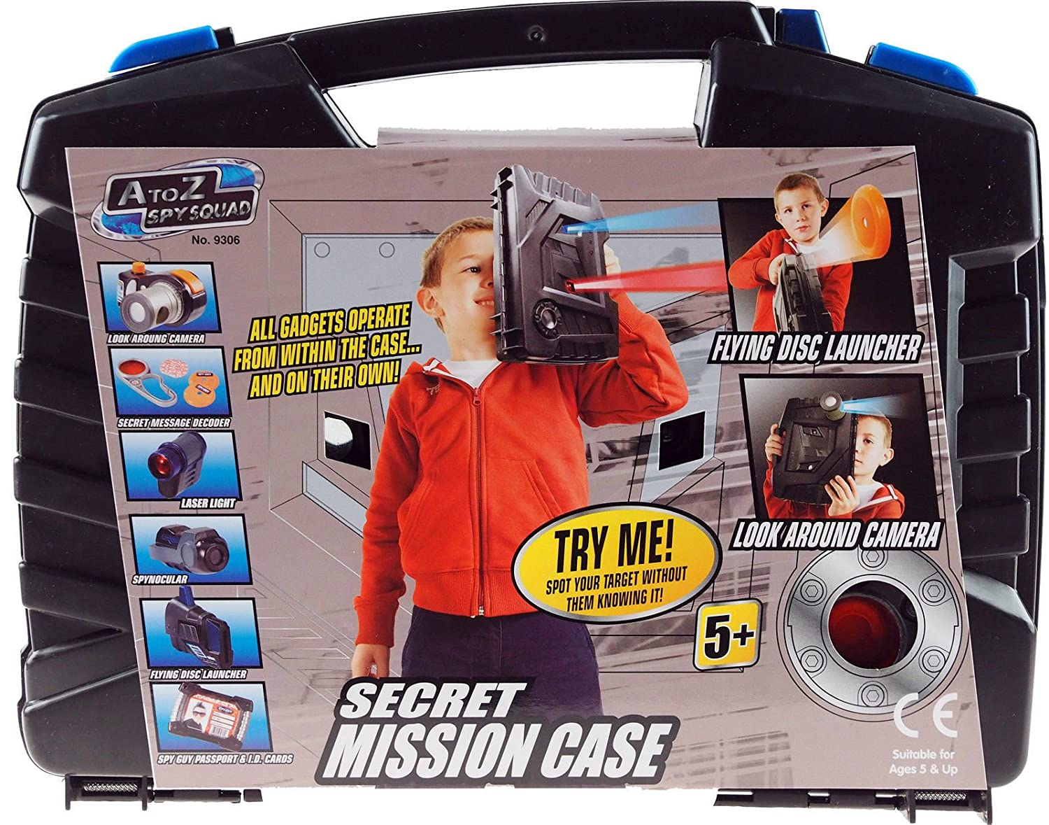 Secret Mission Spy Case - Contains 6 Spy Agent Toys And Gadgets! by A TO Z