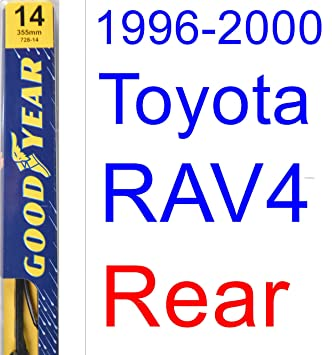 1996 - 2000 Toyota RAV4 hoja de limpiaparabrisas de repuesto Set/Kit (Goodyear limpiaparabrisas blades-premium) (1997,1998,1999): Amazon.es: Coche y moto