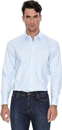 Versace Camisa Lisa Azul Cielo ES 39: Amazon.es: Ropa y ...
