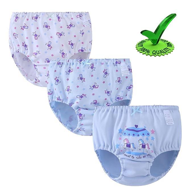 bb3ce8246352 Amazon.com: Zegoo Girls Underwear Boyshorts 100% Cotton Childrens ...