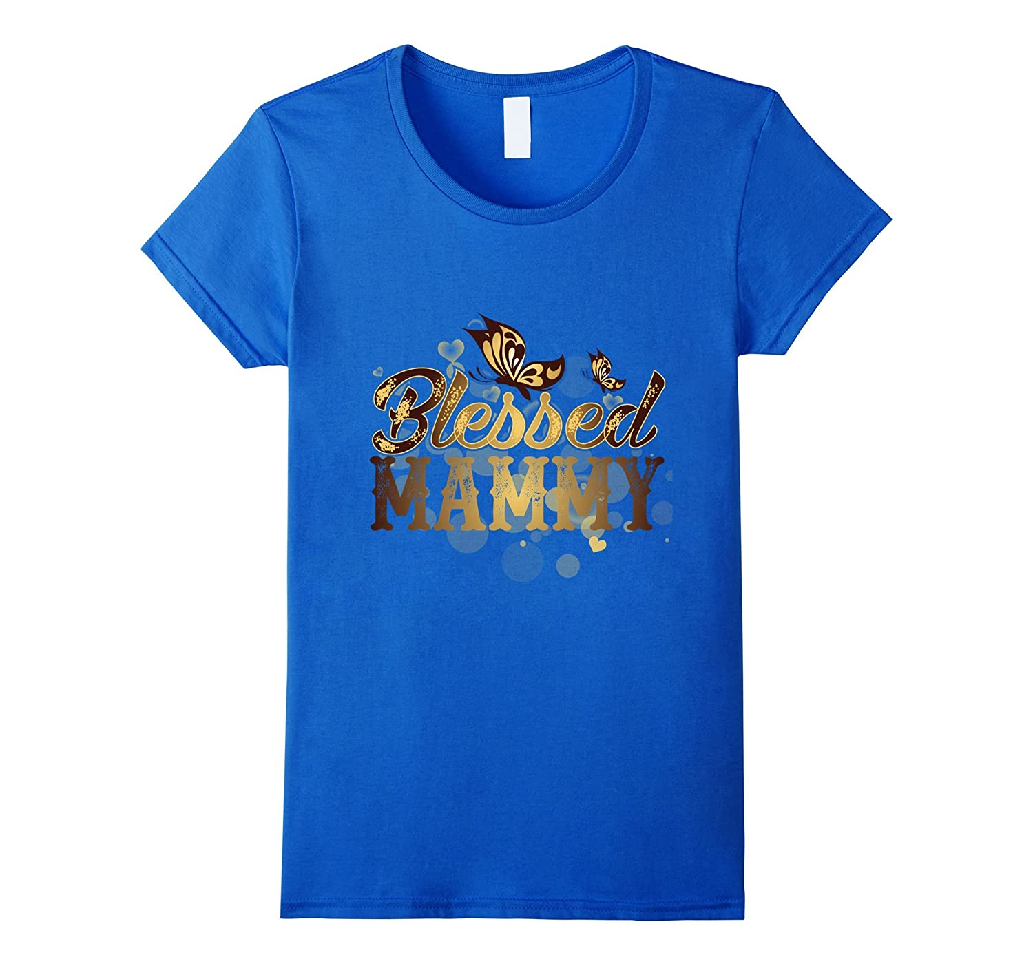 Womens Blessed Mammy an Awesome Mother's Day T Shirt-TH