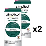 Simplicol Fabric Dye Intensive Forest green: Washing Machine Dye Kit for Clothes & Fabrics, Contains Liquid Dye & Dye Fixative - Textile Dyeing Safe For You & Your Washing Machine- 2 Pack