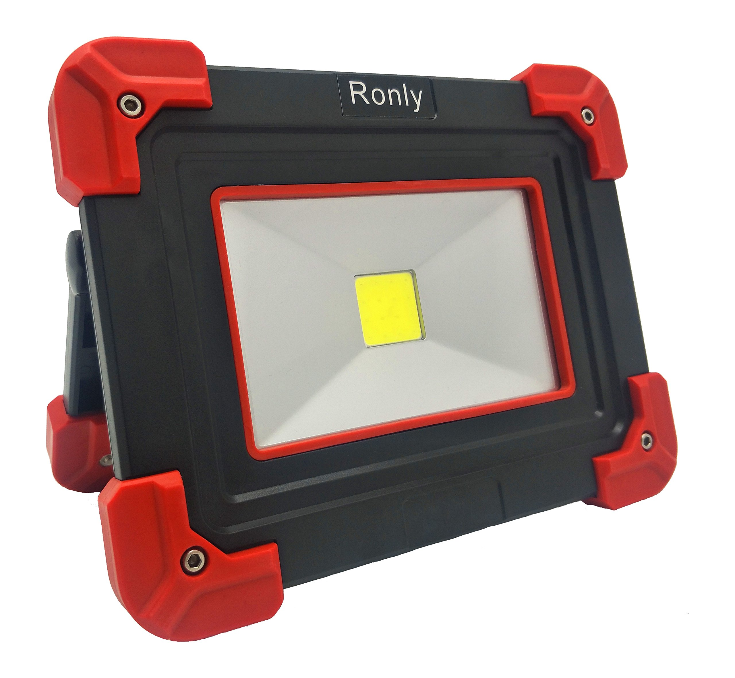 Ronly LED Portable Work Light - Outdoor Waterproof Wireless Rechargeable 5W Flood Light, 210lm 2200mAh Double USB- Port Spotlight for Camping,DIY Task and Emergency Case …