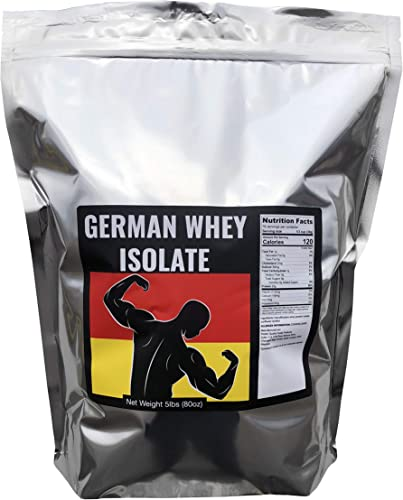 German Whey Protein Isolate – Grass Fed Whey Protein Isolate, Unflavored, No Soy, Non GMO, Made by Strict German Manufacturing – Imported Directly from Germany