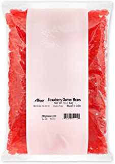 product image for Albanese World's Best Strawberry Gummi Bear, 5 Pound Bag