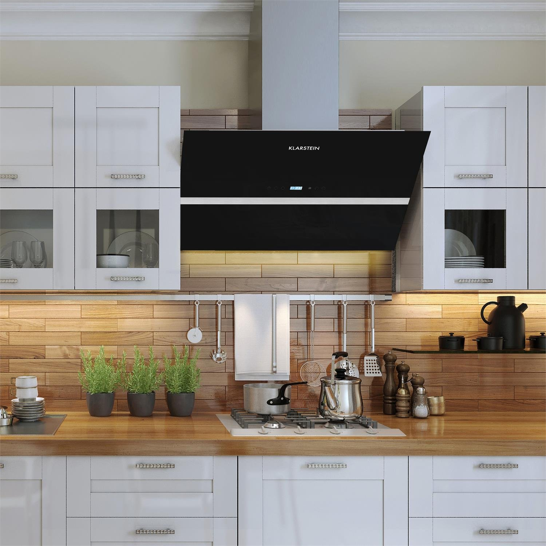 Klarstein Aurea VII Extractor Cooker Hood Motorized 195W 60cm 550 M³/ H  Touch Glass: Amazon.co.uk: Kitchen U0026 Home