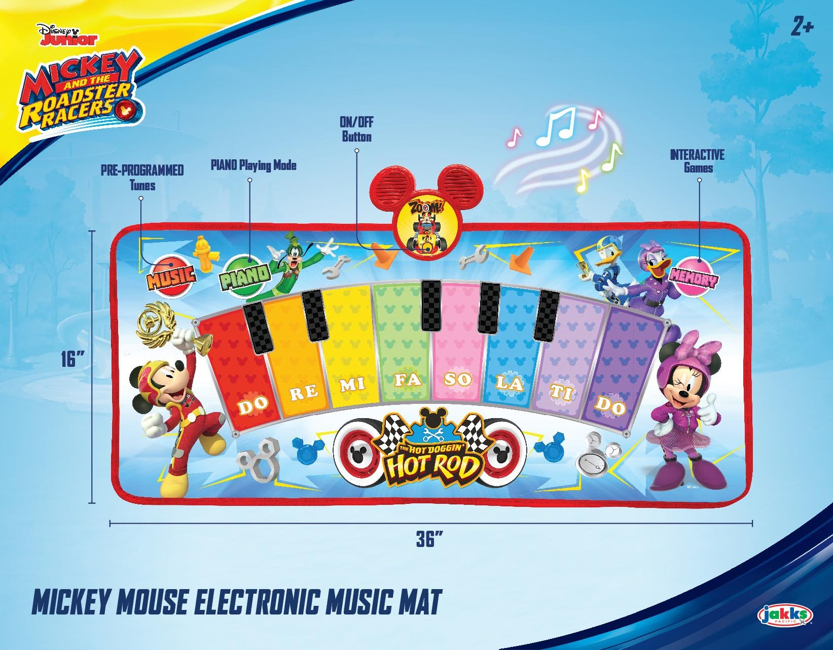 Mickey and the Roadster Racers Electronic Music Play Mat, Multicolor by Mickey and the Roadster Racers (Image #4)