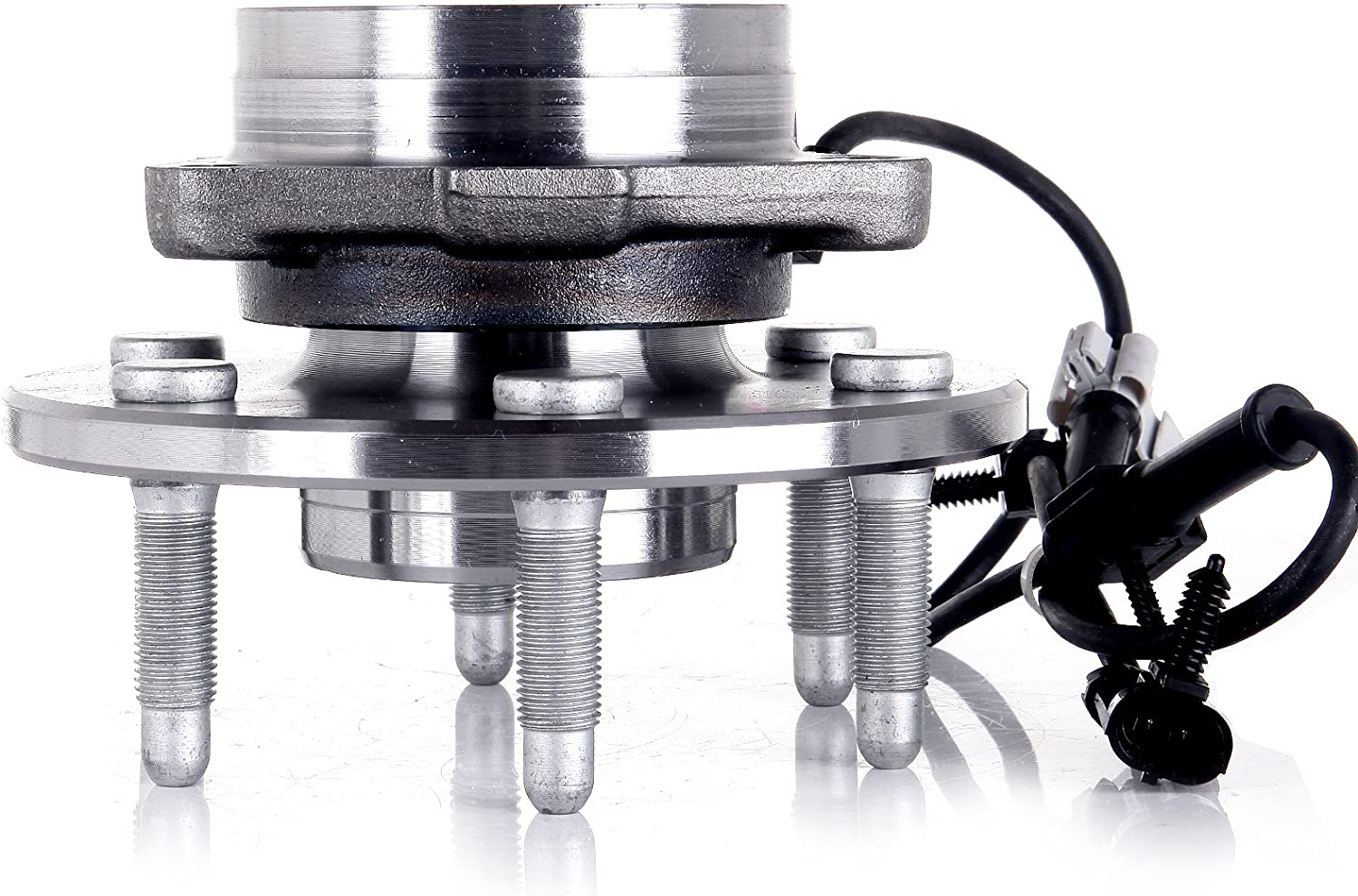SCITOO Wheel Bearing and Hub Assembly for 4WD ONLY Cadillac Escalade GMC Yukon XL 1500 1999-2006 Chevrolet Silverado 1500 Compatible for 515036 Front 6 bolts W//ABS 1 pack