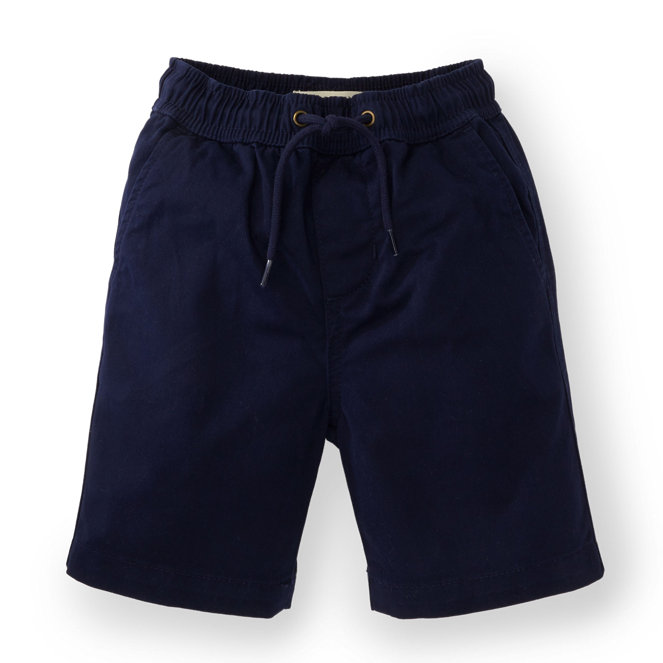 Hope & Henry Boys' Blue Woven Pull-on Short Made with Organic Cotton