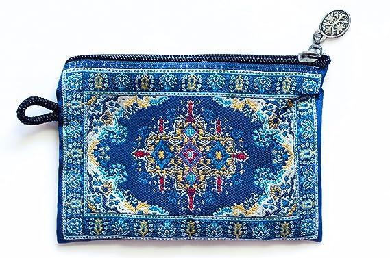 Amazon.com: Oriental Alfombra – Monedero, diseño de Kazak ...