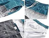 Unitop Men's Colorful Striped Printed Design Swim