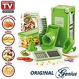 Prix d'action Genius Nicer Dicer Coupe-légumes Magic Cube, Set de 12.-successeur Nicer Dicer Coupe-légumes Fusion-Nouveauté en TV