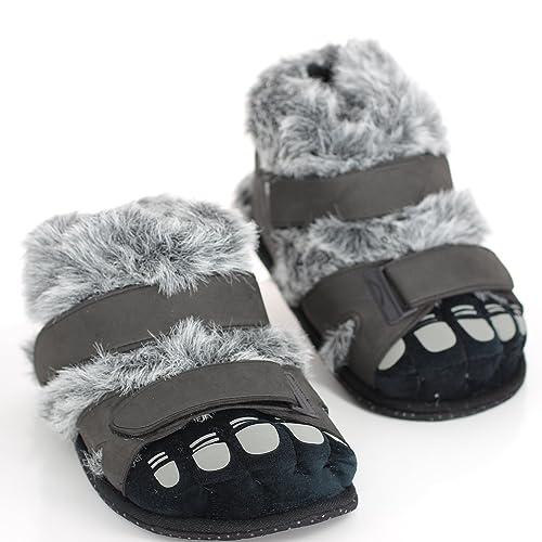 Sleeperz - Zapatillas de casa Originales y Divertidas con Forma de Pied Peludos -