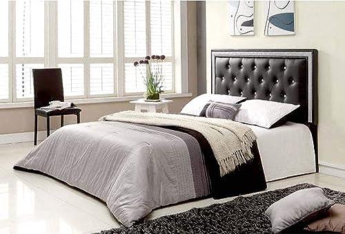 Best modern headboard: Best Master Furniture Hope Tufted Vinyl Upholstered Headboard