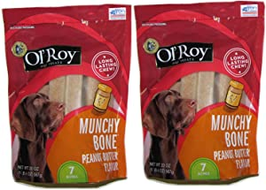 Ol' Roy Munchy Bone Peanut Butter flavor 20 oz 2 pack