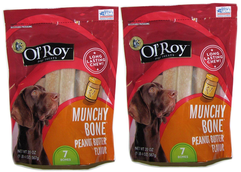 Ol 'Roy Munchy Bone Peanut Butter aroma 20 oz 2 pack