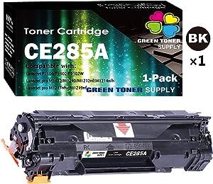 1-Pack GTS Compatible HP CE285A CE285A 85A Toner Cartridge Used for HP Laserjet Pro P1102w P1109w M1212nf M1217nfw Printer