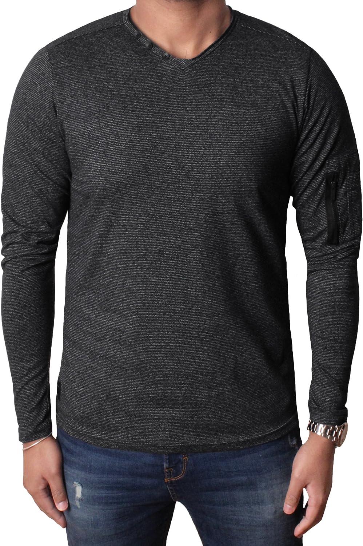 Dissident Mens Long Sleeve Top T-Shirt Fashion Crew Neck Casual Jersey Herbert