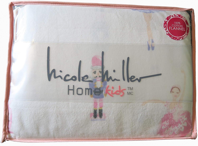 Nicole Miller Home Kids Nutcracker Ballerina Cozy Winter Flannel Full Sheet Set