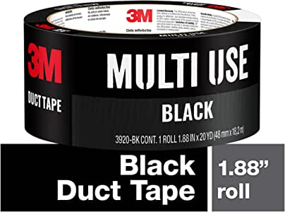 3M Duct Tape Black, 3920-BK, 1.88 Inches by 20 Yards