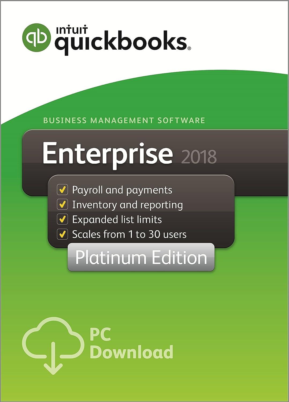 QuickBooks Enterprise 2018 Platinum Edition, 5-User (1-year subscription)