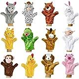 Zeagoo Original Baby Handpuppen-Set aus Plüsch   12 lustige Handpuppen-Tiere zum Spielen und Lernen