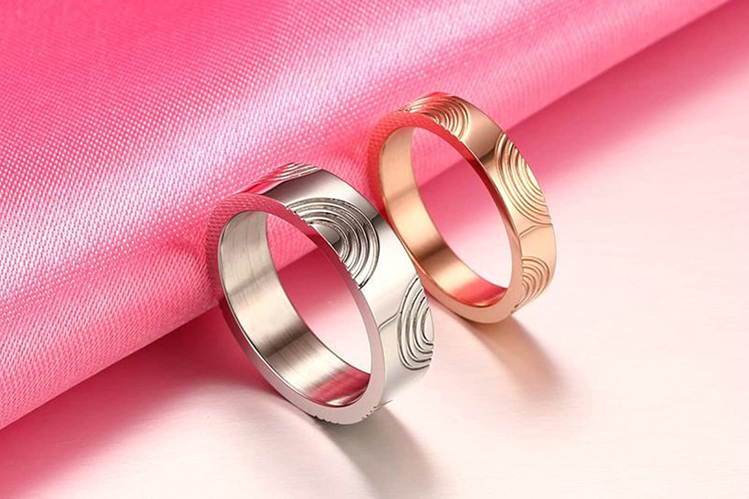 SanJiu Jewelry Couple Ring Wedding Rings Stainless Steel Ring ...