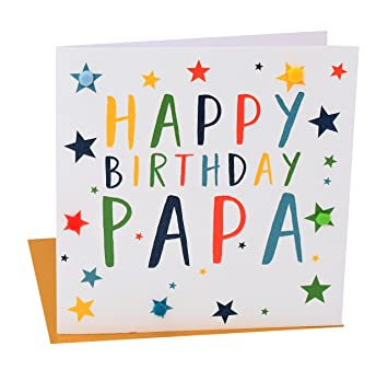 Pom pomhappy birthday papa greeting card amazon office pom pomquothappy birthday papaquot greeting card m4hsunfo