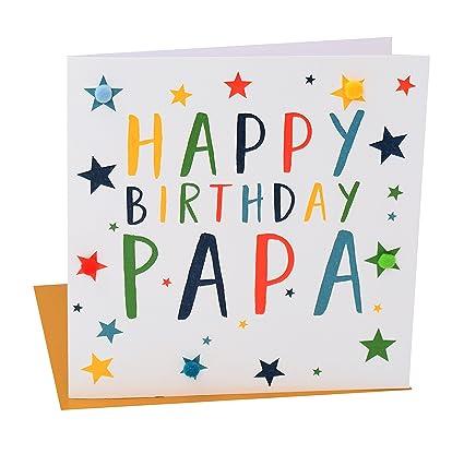 Amazon Pom PomHappy Birthday Papa Greeting Card Office