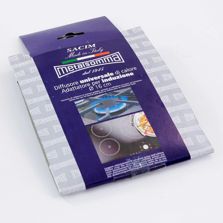 Viscio Trading - 169626 - Difusor adaptador inoxidable para placas de inducción, 16 cm: Amazon.es: Hogar