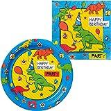 Dinosaur Fun Birthday Tableware Kit (for 16 Guests)