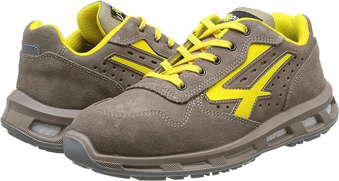 44 EU U-POWER Yellow Amarillo Zapatos de Seguridad Unisex Adulto