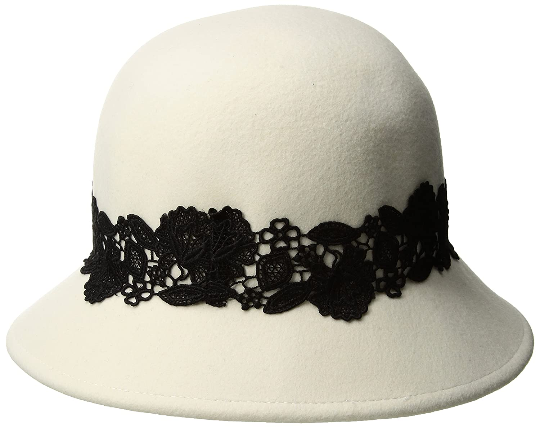 add402c7cc7 ... San Diego Hat Company Womens 2.5 Inch Brim Coche with Black Lace Trim  One Size WFH8037 ...