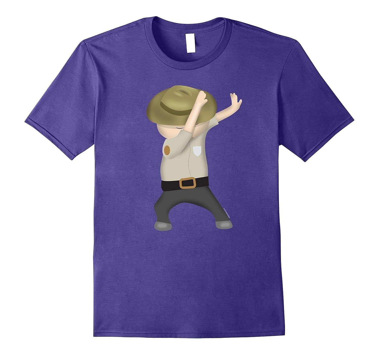 Dabbing Park Ranger Funny Halloween Game Warden-T-Shirt